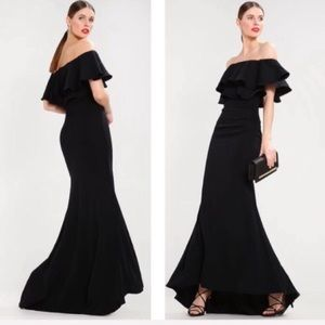 ASOS Jarlo Athalia off the shoulder maxi gown NWT